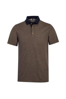 Erkek Giyim - BAL KABAĞI L Beden Polo Yaka Desenli Regular Fit Tişört