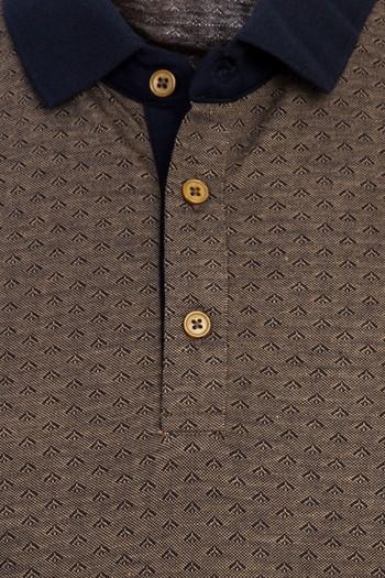 Erkek Giyim - Polo Yaka Regular Fit Desenli Tişört