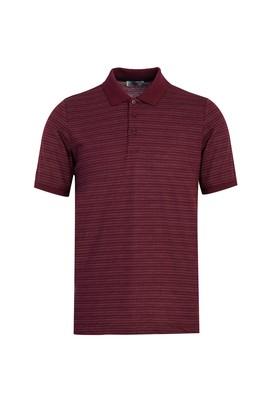 Erkek Giyim - SCARLET KIRMIZISI 3X Beden Polo Yaka Desenli Regular Fit Tişört