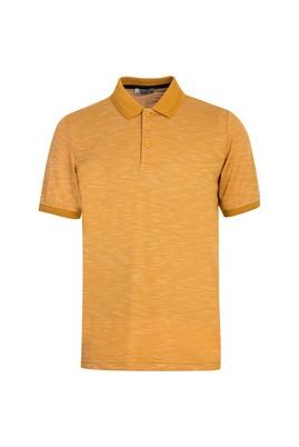 Erkek Giyim - HARDAL XL Beden Polo Yaka Desenli Regular Fit Tişört