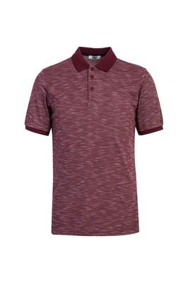 Erkek Giyim - VİŞNE M Beden Polo Yaka Desenli Regular Fit Tişört