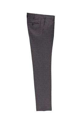 Erkek Giyim - KOYU KAHVE 50 Beden Slim Fit Desenli Klasik Pantolon