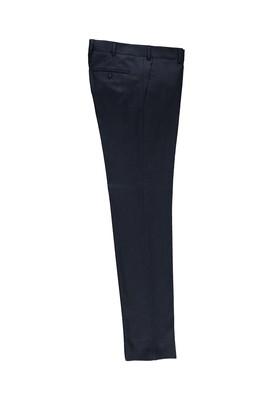 Erkek Giyim - KOYU LACİVERT 48 Beden Slim Fit Desenli Klasik Pantolon