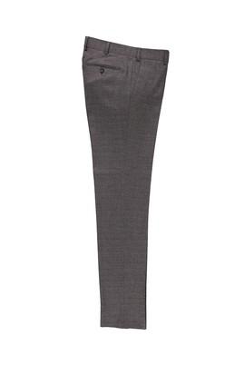 Erkek Giyim - ORTA KAHVE 50 Beden Slim Fit Desenli Klasik Pantolon