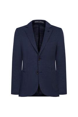 Erkek Giyim - KOYU LACİVERT 44 Beden Slim Fit Kuşgözü Ceket