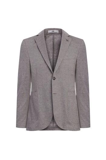 Erkek Giyim - Slim Fit Kuşgözü Spor Ceket