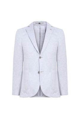 Erkek Giyim - AÇIK GRİ 46 Beden Slim Fit Spor Ceket