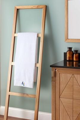 Erkek Giyim - BEYAZ  Beden Yelken Nakışlı Banyo Havlusu (90x150)