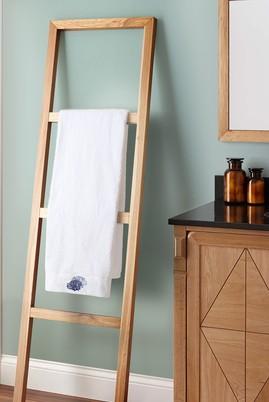 Erkek Giyim - BEYAZ  Beden Mercan Nakışlı Banyo Havlusu (90x150)