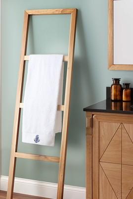 Erkek Giyim - BEYAZ  Beden Çapa Nakışlı Banyo Havlusu (90x150)