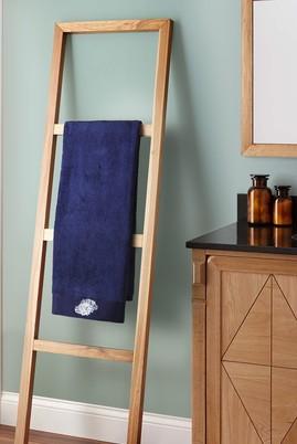 Erkek Giyim - ORTA LACİVERT  Beden Mercan Nakışlı Banyo Havlusu (90x150)