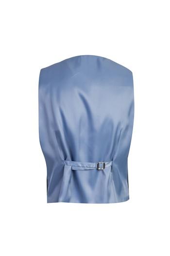 Erkek Giyim - Yelekli Kombinli Slim Fit Takım Elbise