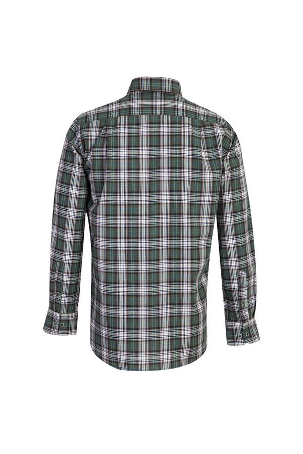 Uzun Kol Desenli Regular Fit Gömlek