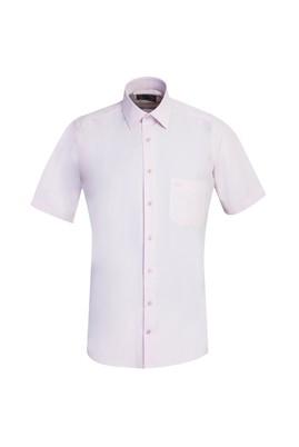 Erkek Giyim - TOZ PEMBE L Beden Kısa Kol Regular Fit Gömlek