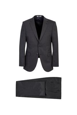 Erkek Giyim - KOYU FÜME 52 Beden Yünlü Klasik Takım Elbise