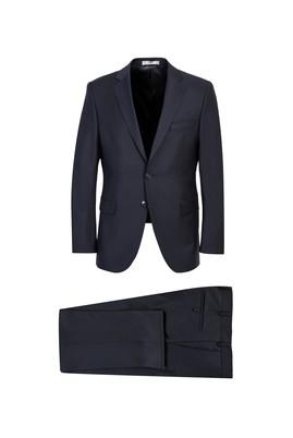 Erkek Giyim - KOYU FÜME 60 Beden Yünlü Klasik Takım Elbise