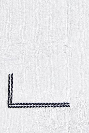 Erkek Giyim - Marine Nakışlı Ayak Havlusu / Paspas (50x80)