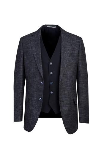 Erkek Giyim - Regular Fit Yelekli Kombinli Takım Elbise