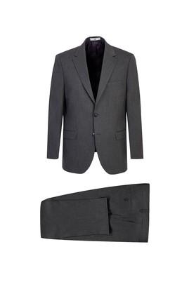 Erkek Giyim - KOYU FÜME 64 Beden Klasik Takım Elbise