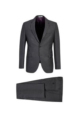 Erkek Giyim - KOYU FÜME 56 Beden Slim Fit Takım Elbise