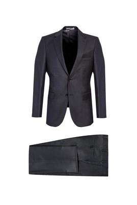 Erkek Giyim - ORTA FÜME 58 Beden Slim Fit Takım Elbise