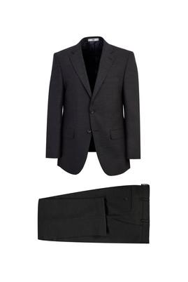 Erkek Giyim - KOYU ANTRASİT 58 Beden Klasik Takım Elbise