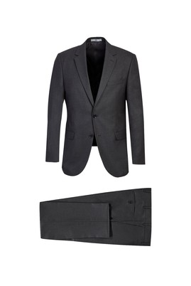 Erkek Giyim - ORTA ANTRASİT 60 Beden Klasik Takım Elbise