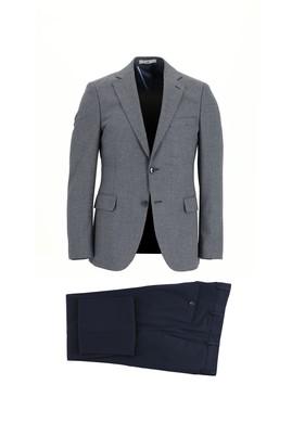 Erkek Giyim - AÇIK LACİVERT 52 Beden Slim Fit Kombinli Takım Elbise