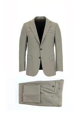 Erkek Giyim - ORTA BEJ 48 Beden Yünlü Klasik Takım Elbise