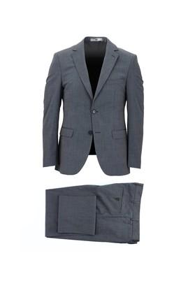 Erkek Giyim - AÇIK LACİVERT 58 Beden Slim Fit Takım Elbise