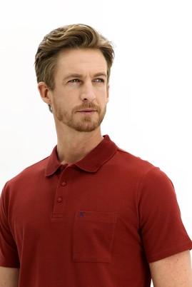 Erkek Giyim - KİREMİT 3X Beden Polo Yaka Regular Fit Tişört