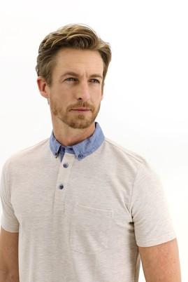 Erkek Giyim - AÇIK KAHVE 3X Beden Polo Yaka Regular Fit Tişört