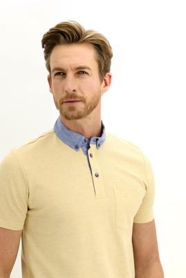Erkek Giyim - KOYU SARI 3X Beden Polo Yaka Regular Fit Tişört