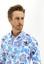 BEYAZ  Uzun Kol Regular Fit Desenli Spor Gömlek