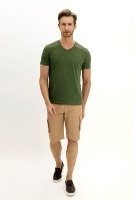Erkek Giyim - KOYU BEJ 48 Beden Bermuda Şort