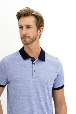 Erkek Giyim - MAVİ 3X Beden Polo Yaka Regular Fit Tişört