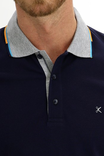 Erkek Giyim - Polo Yaka Slim Fit Desenli Tişört