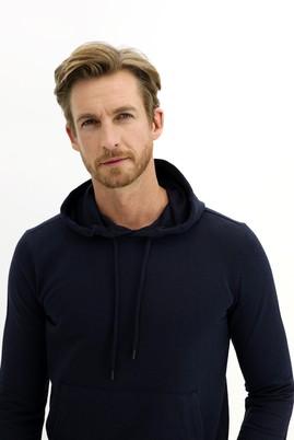 Erkek Giyim - ORTA LACİVERT 4X Beden Kapüşonlu Sweatshirt