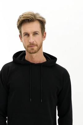 Erkek Giyim - SİYAH L Beden Kapüşonlu Oversize Sweatshirt