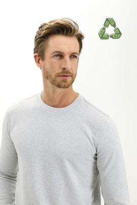 Erkek Giyim - ORTA GRİ MELANJ 3X Beden Bisiklet Yaka Sweatshirt