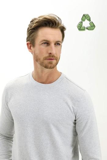 Erkek Giyim - Bisiklet Yaka Sweatshirt