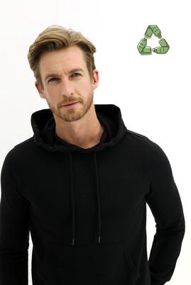 Erkek Giyim - SİYAH 5X Beden Kapüşonlu Sweatshirt