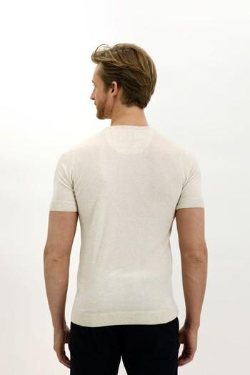 Erkek Giyim - Bisiklet Yaka Slim Fit Triko Tişört