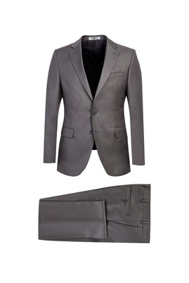 Erkek Giyim - ORTA GRİ 62 Beden Klasik Takım Elbise