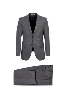 Erkek Giyim - ORTA GRİ 46 Beden Klasik Takım Elbise