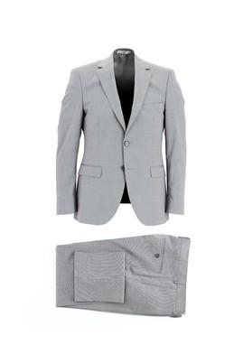 Erkek Giyim - ORTA GRİ 60 Beden Yünlü Klasik Takım Elbise