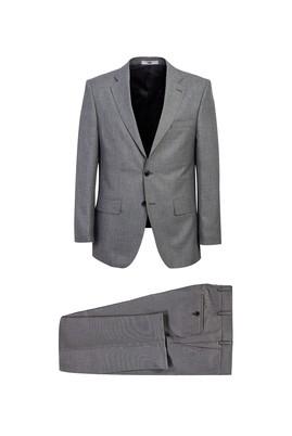 Erkek Giyim - ORTA GRİ MELANJ 66 Beden Klasik Takım Elbise