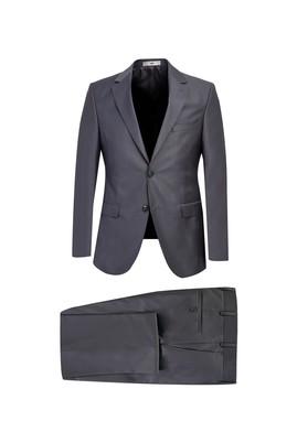 Erkek Giyim - ORTA GRİ 44 Beden Slim Fit Takım Elbise