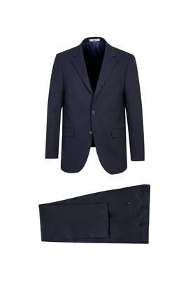 Erkek Giyim - KOYU LACİVERT 64 Beden Klasik Takım Elbise