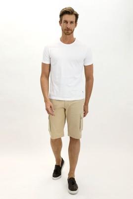 Erkek Giyim - AÇIK BEJ 48 Beden Slim Fit Bermuda Şort